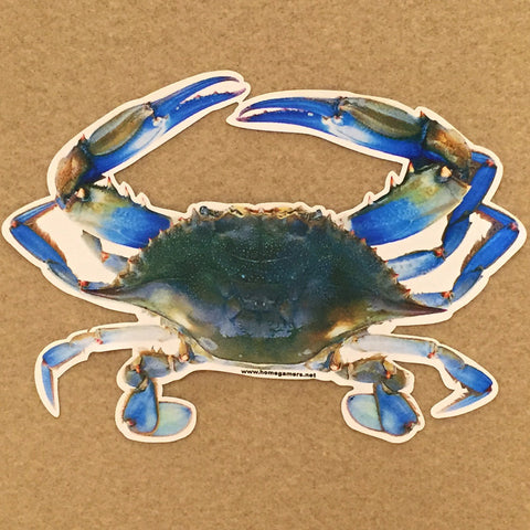Blue Crab Die Cut Decal