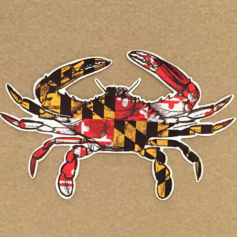 Maryland Flag Crab 12inch Vinyl Decal