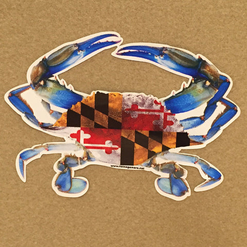 Blue Crab Maryland Flag Shell Decal