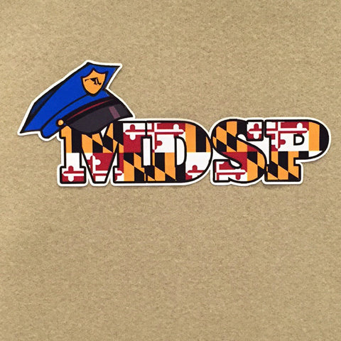Maryland State Police MDSP Decal