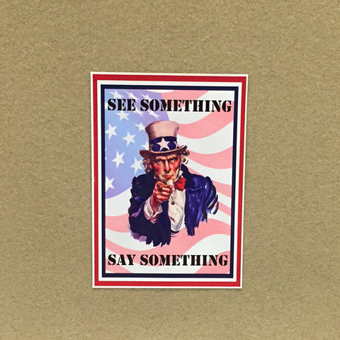 "See Say Uncle Sam 3""x5"" Decal"
