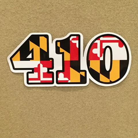 Maryland Flag Area Code 410 Decal - HomeGamers