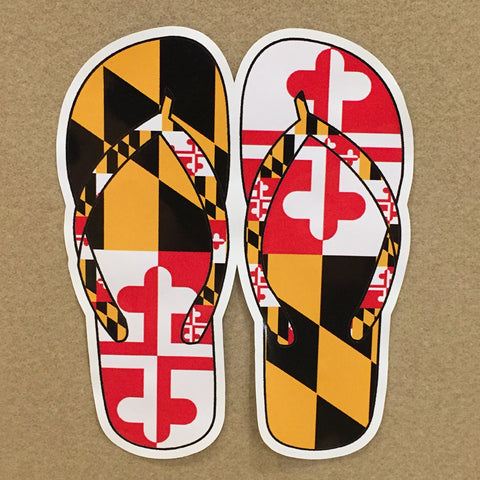 Maryland Flag Flip Flops Decal