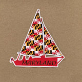Maryland Flag Sailboat Decal