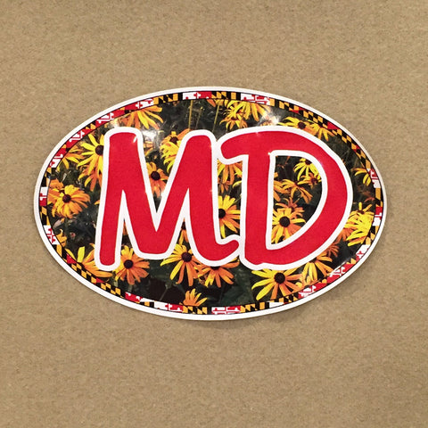 Maryland Black Eyed Susan Oval Decal