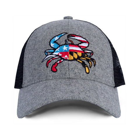 American Flag Maryland Flag Crab Hat - HomeGamers