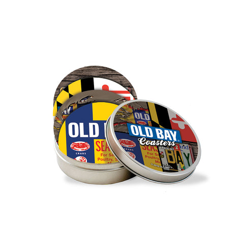 OLD BAY® Coaster Set with Tin