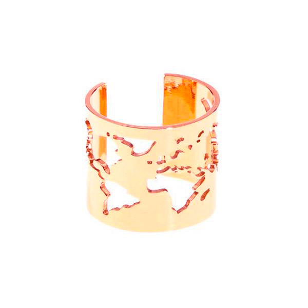 Anillo World Rose Gold Plata de ley
