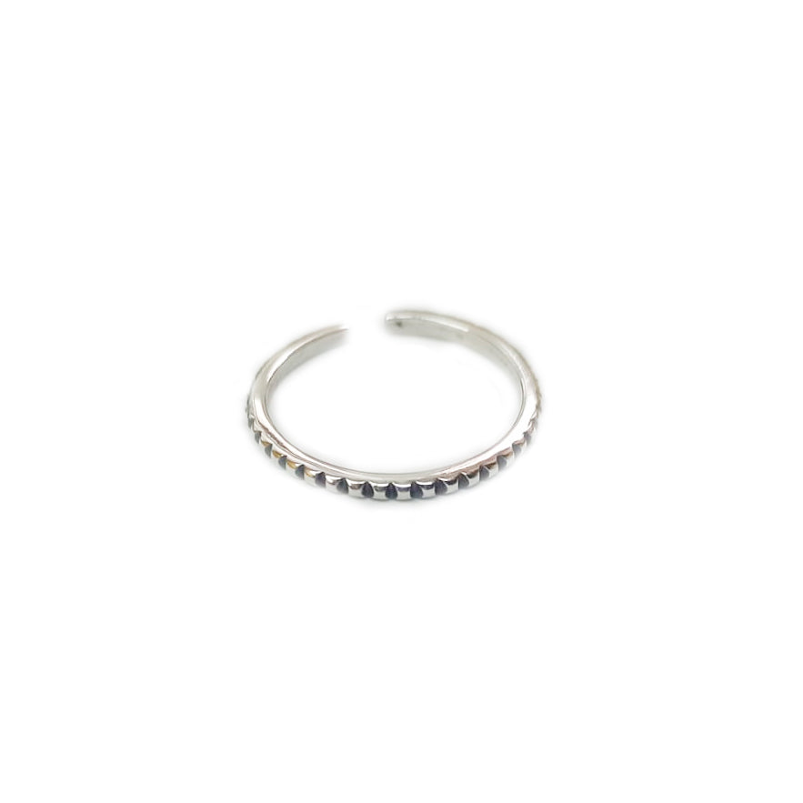 Anillo Simple Nero Plata