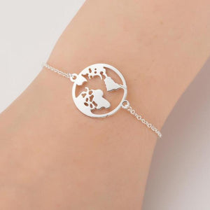 Pulsera World Plata de ley