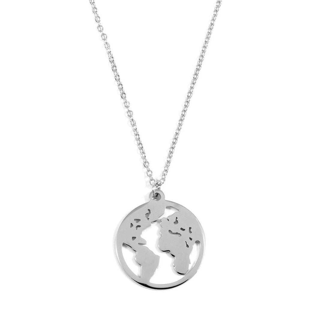 Collar World Plateado