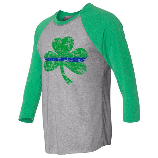 Thin Blue Line St. Patrick's Day 3/4 Sleeve T-Shirt
