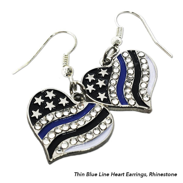 Thin Blue Line Flag Earrings