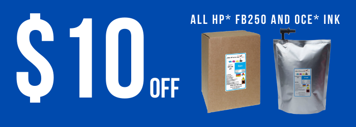 HP FB250 and Oce Ink Replacement Sale on InXave.com