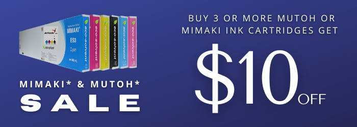 Mimaki and Mutoh Ink | Large Format Ink Sale | Wide Format Ink Sale on InXave.com