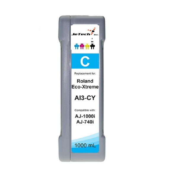 Roland Eco-Xtreme AI3-CY 1000mL Ink Cartridges Cyan