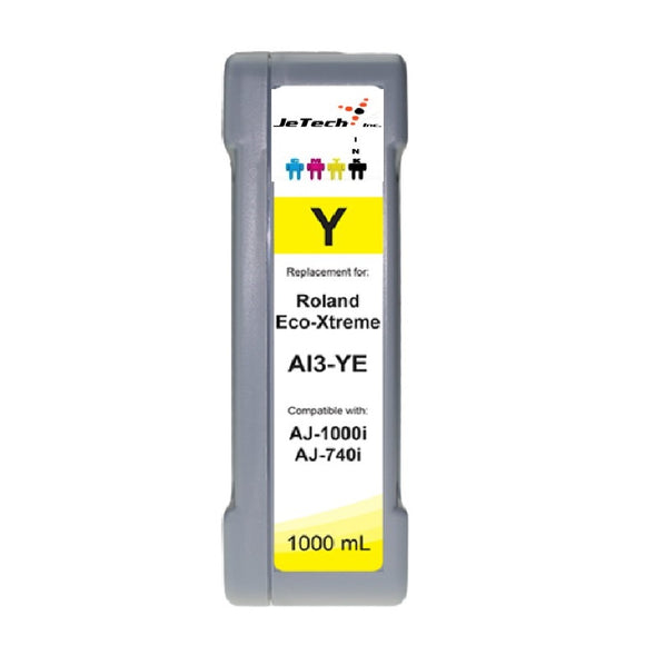 InXave Roland Eco-Xtreme AI3-YE 1000mL Ink Cartridges Yellow