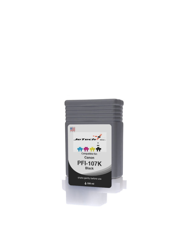 InXave Canon PFI-107BK Black Dye 130mL Ink cartridge
