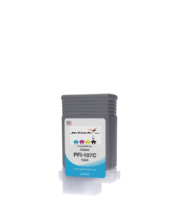 InXave Canon PFI-107C Cyan 130mL Ink cartridge