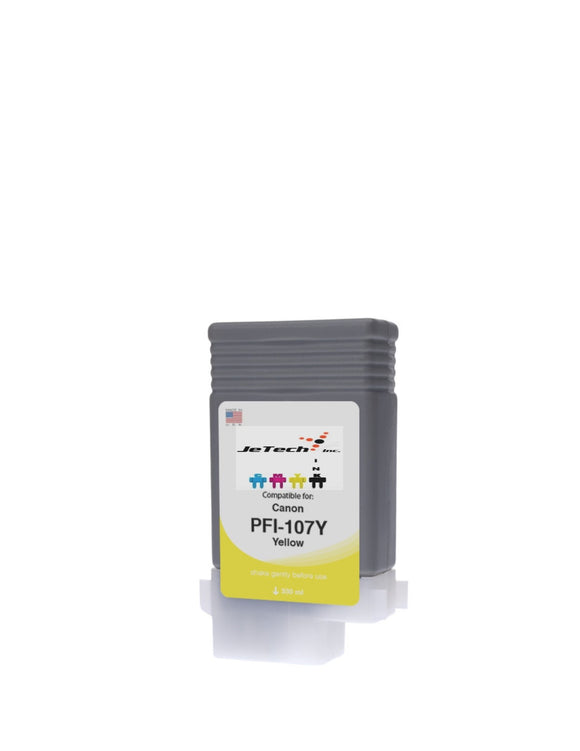 InXave Canon PFI-107Y Yellow 130mL Ink cartridge