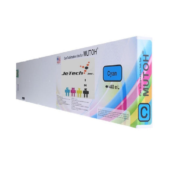 Mutoh compatible Dye Sublimation 440ml cyan cartridge