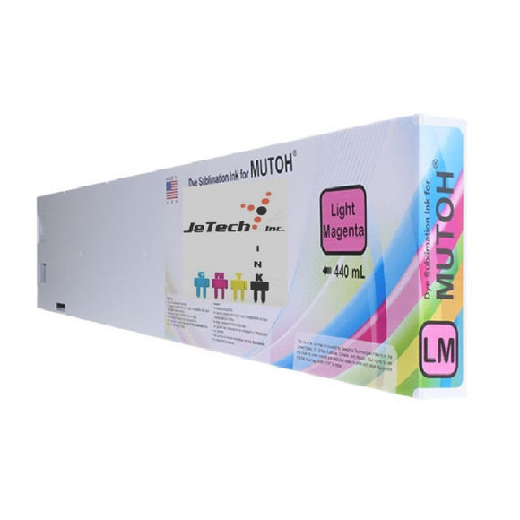 Mutoh* Dye Sublimation Compatible 440ml Ink Cartridge - Light Magenta