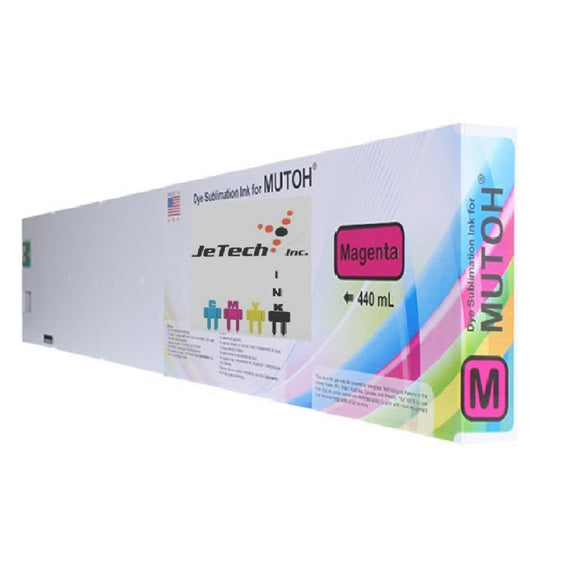 InXave Mutoh Dye Sublimation Compatible 440ml Ink Cartridge Magenta