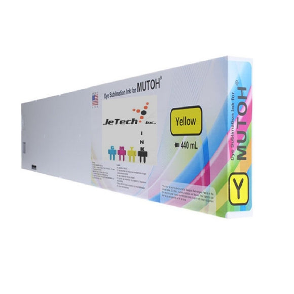 InXave Mutoh Dye Sublimation Compatible 440ml Ink Cartridge Yellow