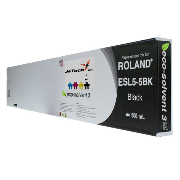Roland ESL5-5BK 500mL compatible ink cartridge Black