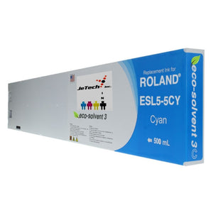Roland Max3 Esl5-5CY 500ml compatible Cyan Ink Cartridge