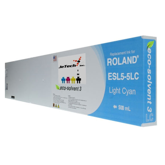 Roland ESL5-5LC 500mL compatible ink cartridge Light Cyan