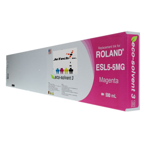 Roland ESL5-5MG 500mL compatible ink cartridge Magenta