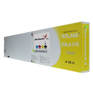 Roland ESL5-5YE 500mL compatible ink cartridge Yellow