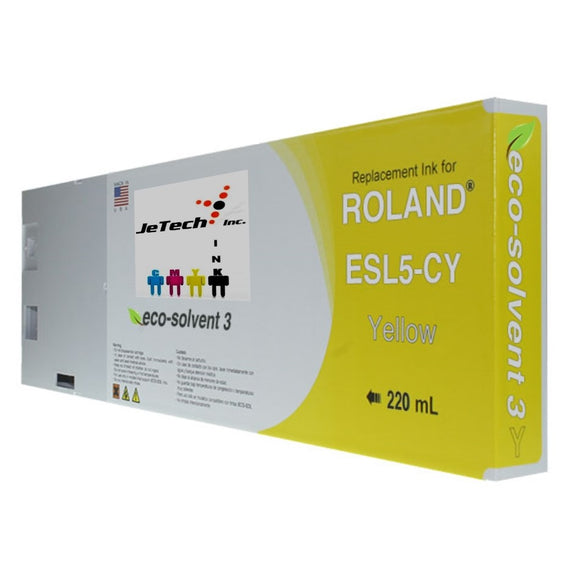 Roland ESL5 Max3 220mL Ink Cartridges Yellow