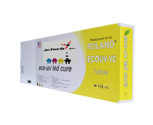 InXave Roland VersaUV EcoUV4 EUV4 500ml Yellow Cartridge
