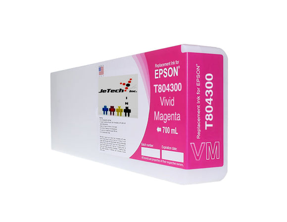 Epson T804300 UltraChrome HDX Ink Cartridge Vivid Magenta