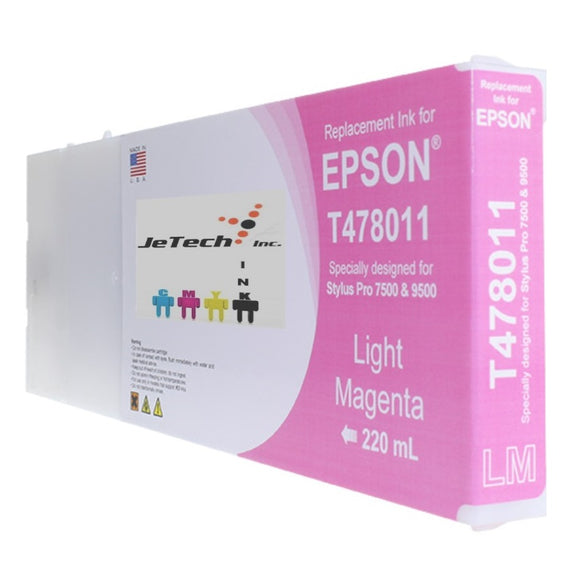 Epson T478 Compatible Light Magenta 220ml Ink Cartridges