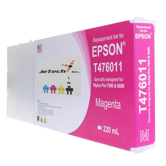Epson T476 Compatible Magenta 220ml Ink Cartridges