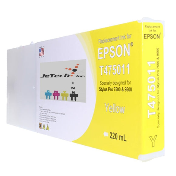 Epson T475 Compatible Yellow 220ml Ink Cartridges