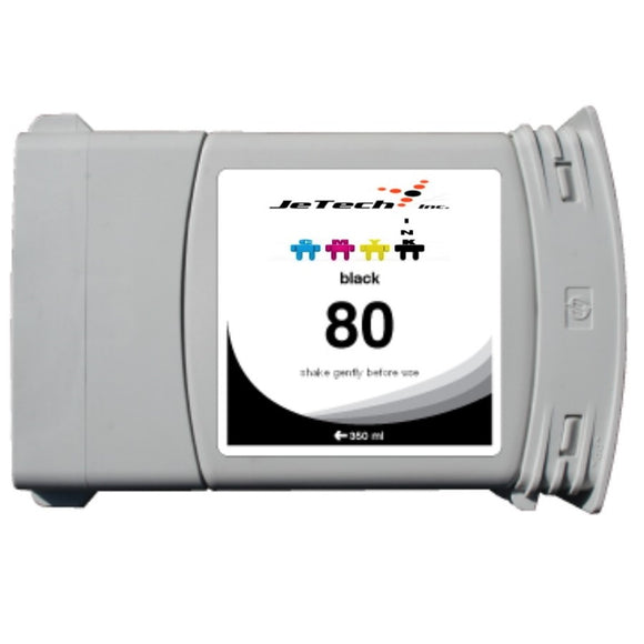 HP* HP80 Compatible 350ml Ink Cartridge (C4871A) - Black