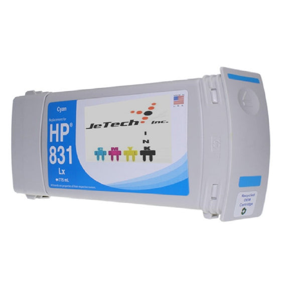 HP831 CZ683A Compatible Latex Ink Cartridge 775ml Cyan