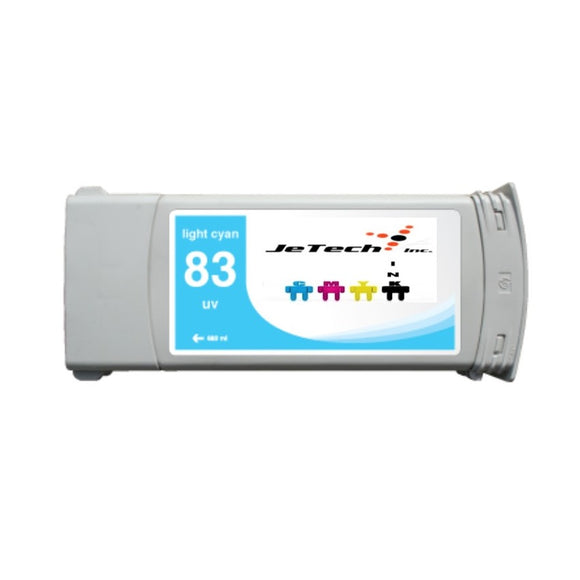 HP83 compatible UV ink cartridge C4944a Light Cyan