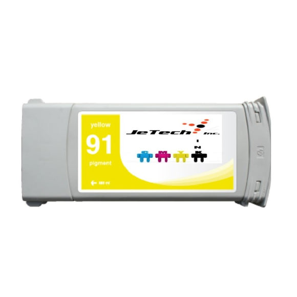 InXave HP91 Yellow C9469A pigment 775ml ink cartridge