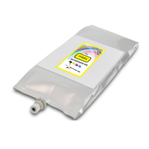 Mutoh 1l dye sublimation compatible ink bag Yellow