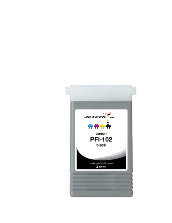 InXave Canon PFI-102BK Black 130mL Ink cartridge