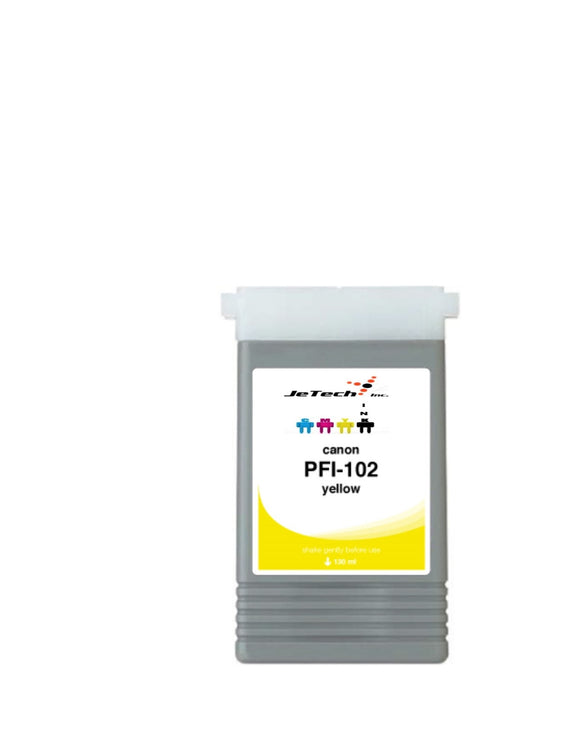 Canon PFI-102Y Yellow 130mL Ink cartridge