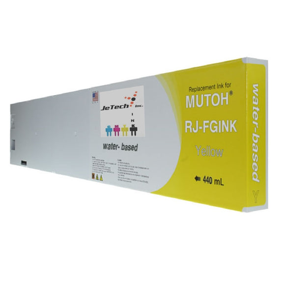 Mutoh RJ-FGINK-YE Yellow 440ml ink cartridge