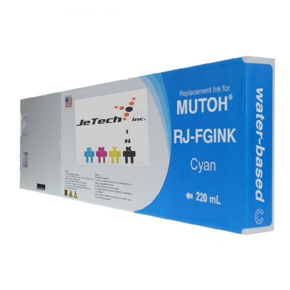 Mutoh RJ-FGINK-CY2 water based 220ml ink cartridge Cyan