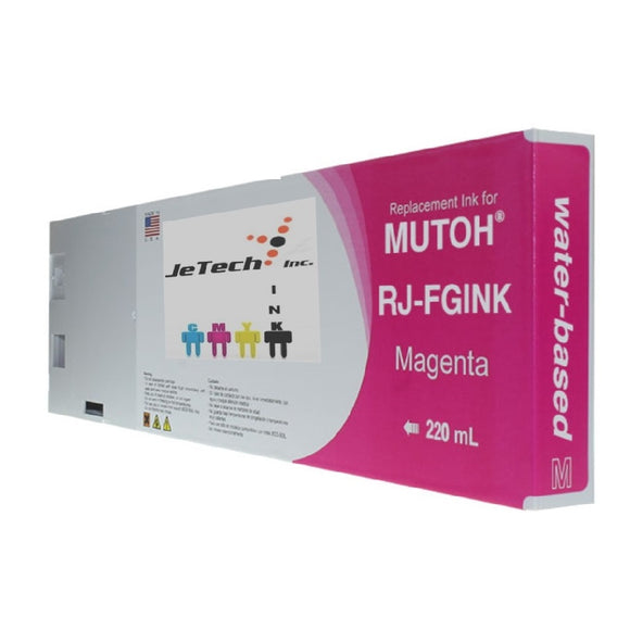 Mutoh RJ-FGINK-MA2 Magenta 220ml ink cartridge jetechink