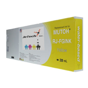 InXave Mutoh RJ-FGINK-YE2 Yellow 220ml ink cartridge
